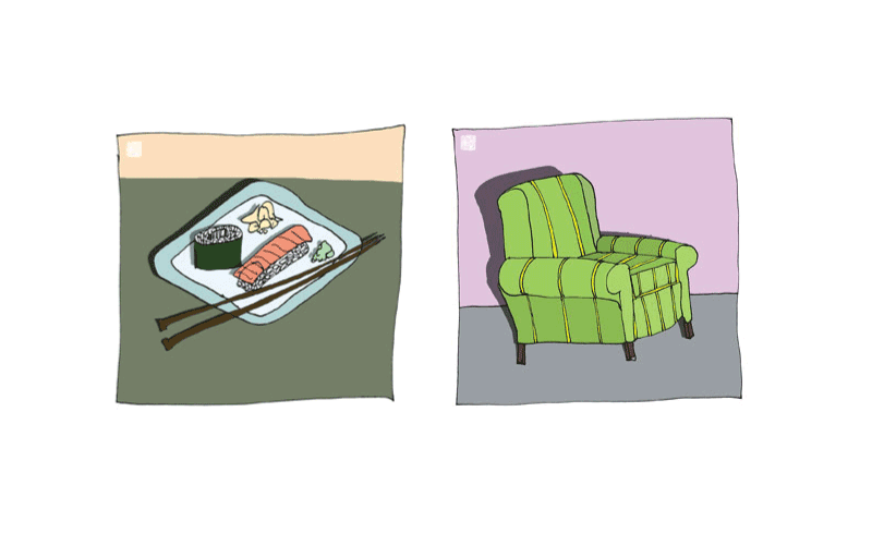 Illustrations for Luckychair Greeting Cards