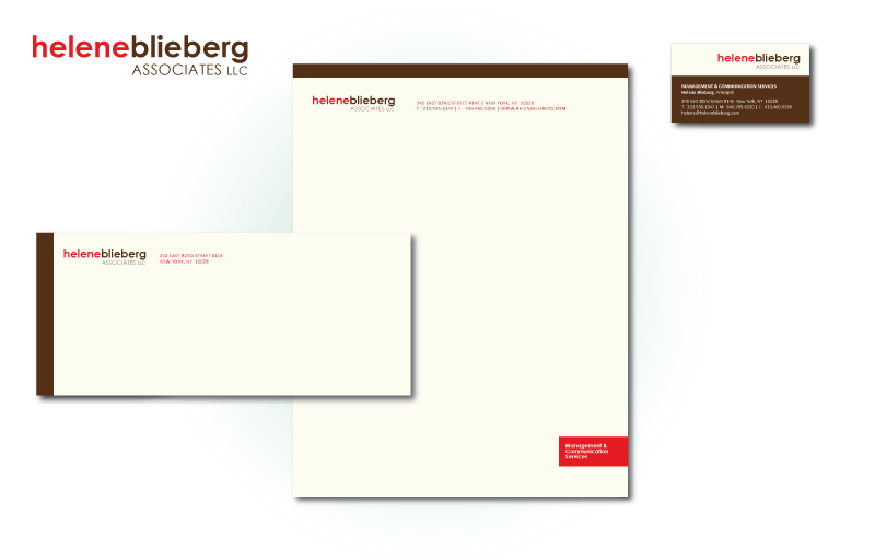 Business Collateral design for HeleneBlieberg.com