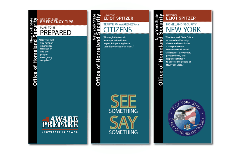 Trifold Brochure design for New York State Homeland Security