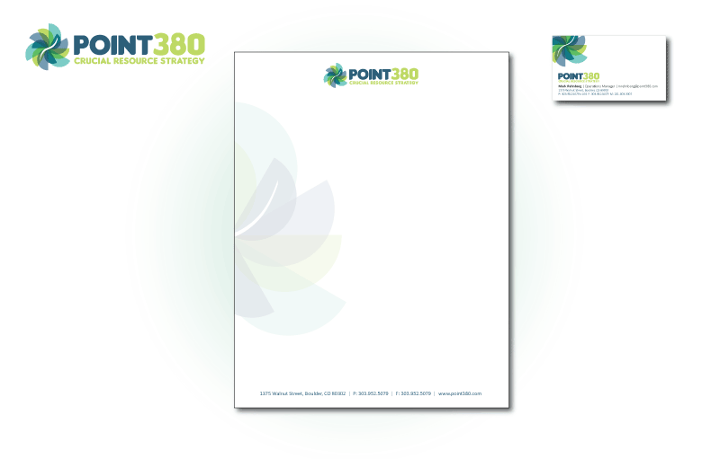 Business Collateral design for Point380.com