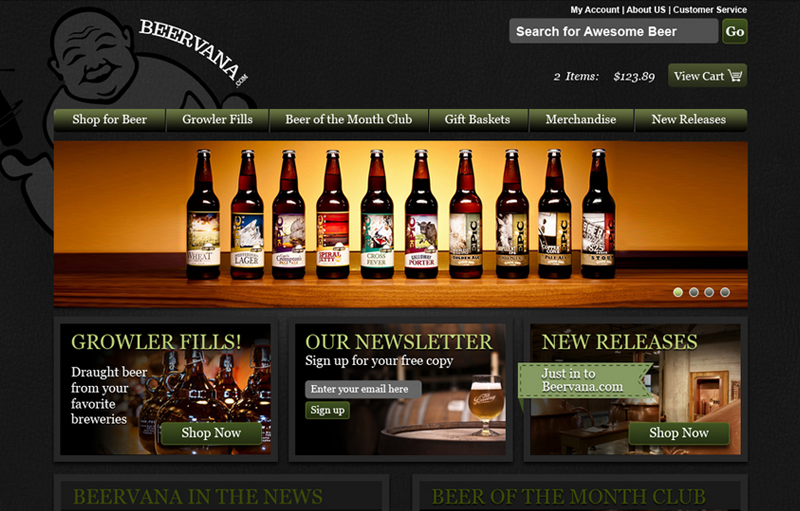 Web design for Beervana